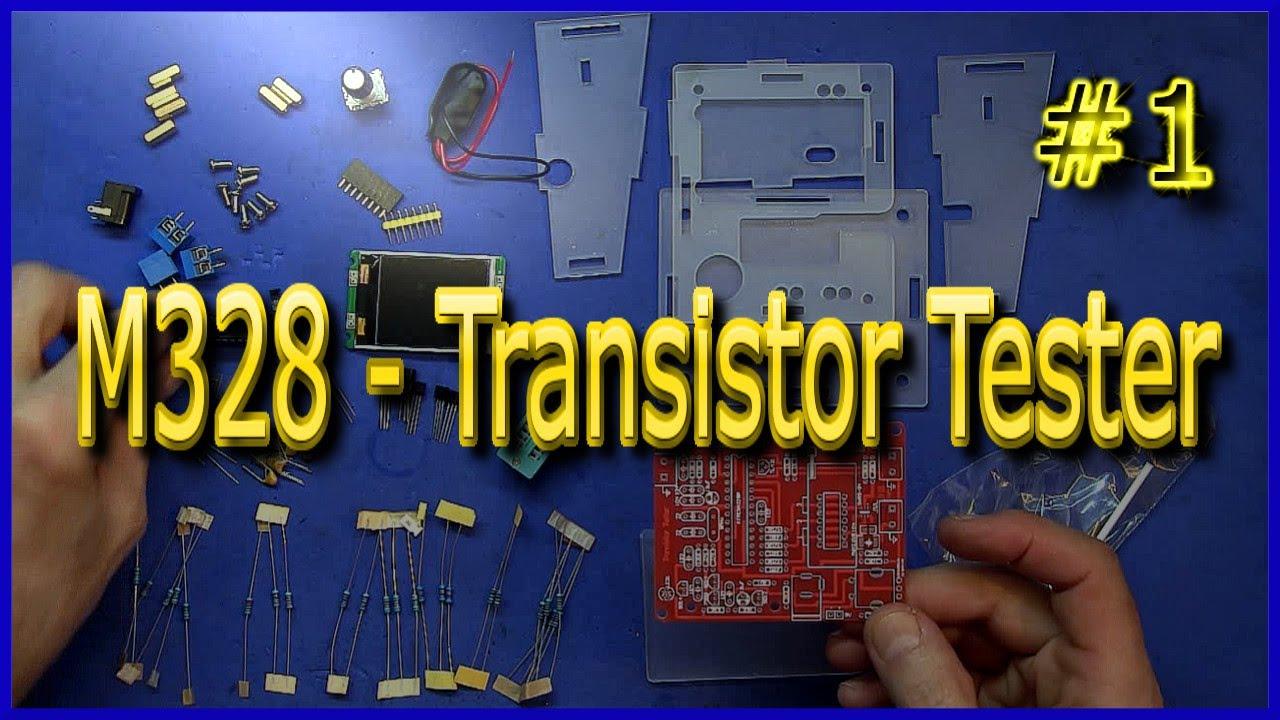 M328 Transistor Tester 1 J Rpm Youtube Led Circuito Basado Probador De Transistores