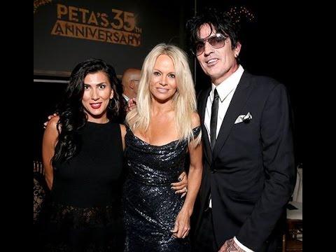 Pamela Anderson, Ex-Husband Tommy Lee Reunite at PETA Event
