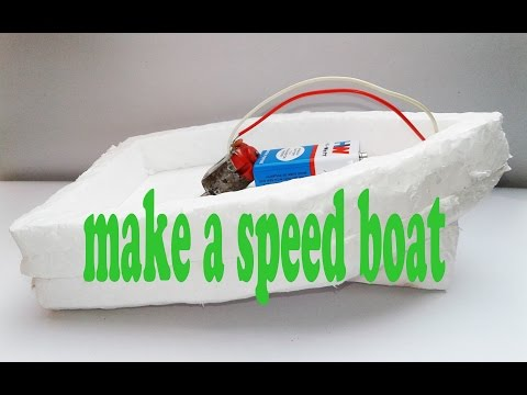 How to make a Electric motor boat using Thermocol and DC motor thumbnail