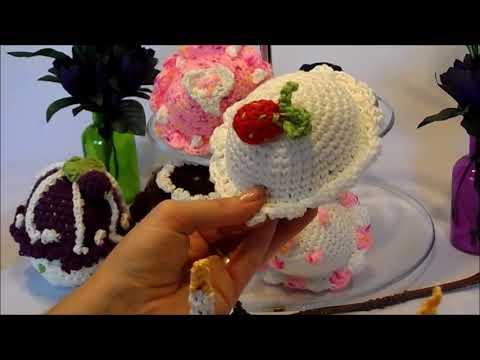 Diykeka Muffin Cupcakeerdbeer Törtchen Häkelnselber Machen
