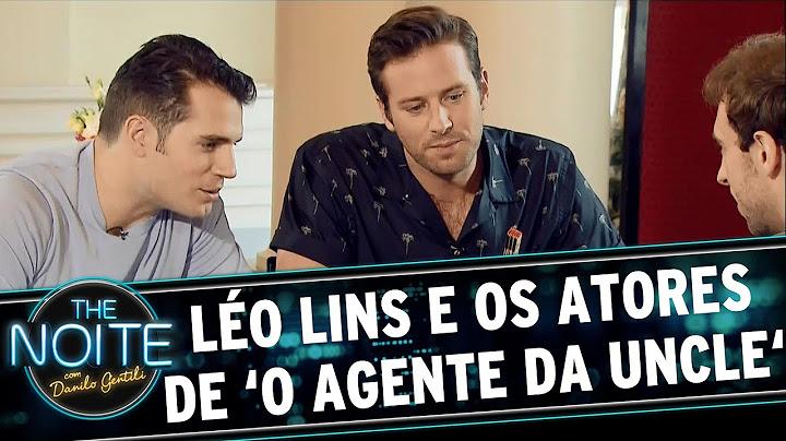 the noite 030915  lo lins entrevista o elenco do filme o agente da uncle
