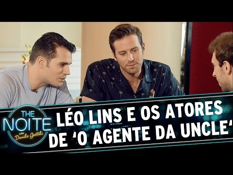The Noite (03/09/15) - Léo Lins Entrevista O Elenco Do Filme 'O Agente Da U.N.C.L.E.'