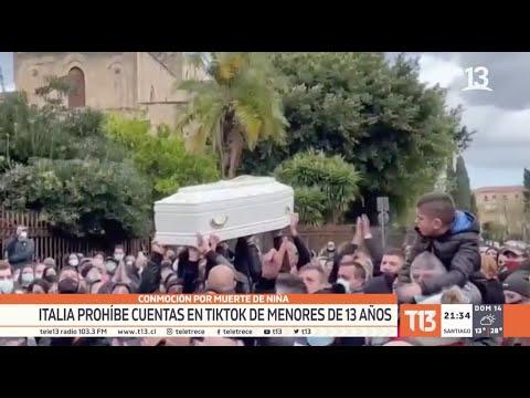 Italia prohíbe cuentas en TikTok de menores de 13 años por muerte de niña