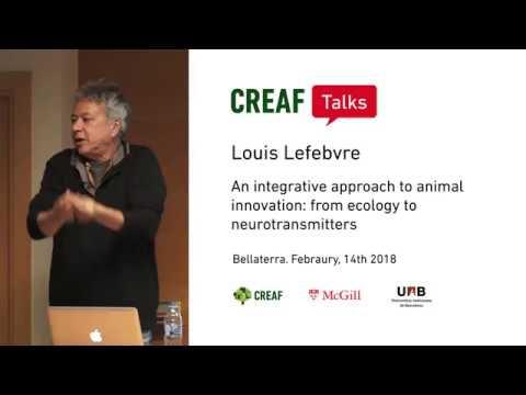 CREAF Talks  Louis Lefebvre: An integrative approach to animal innovation