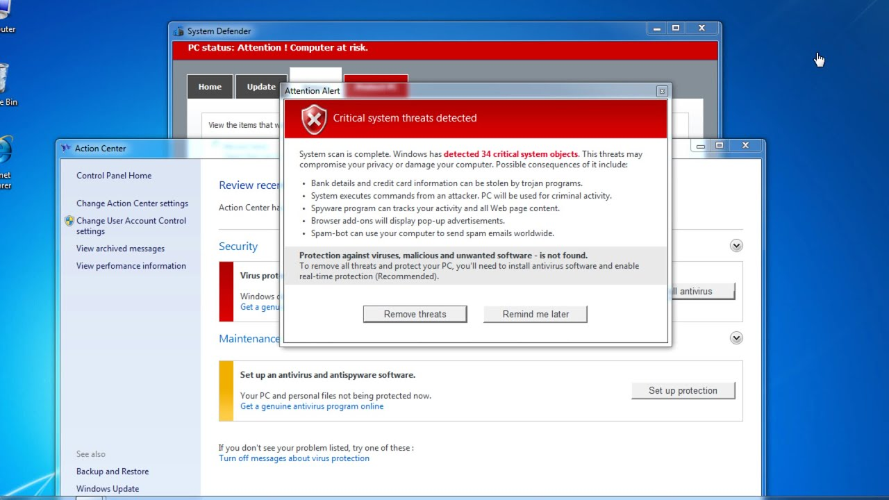 How to remove Malware Defender 2015 virus (System Defender popup)