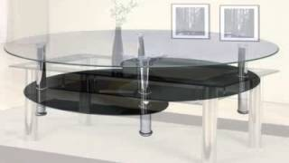 Oval Glass Coffee Tables - Furniture In Fashion