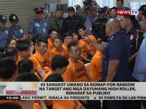 43 sangkot umano sa kidnap-for-ransom na target ang mga dayuhang high roller, iniharap sa publiko