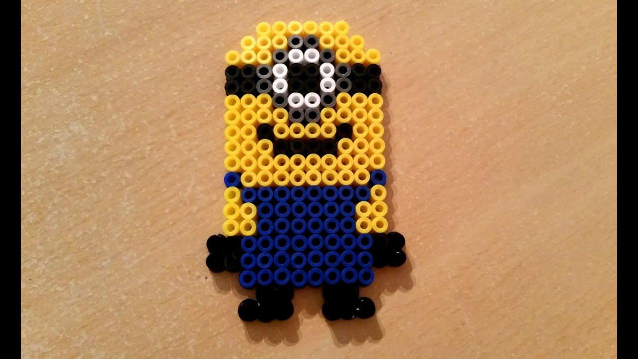 Diy Minion En Perles Hama Perler Beads Minion Youtube