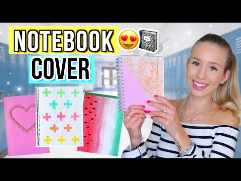 BACK TO SCHOOL DIY NOTEBOOK COVER ✏️ DIY School Supplies 2019 Deutsch - Cali Kessy
