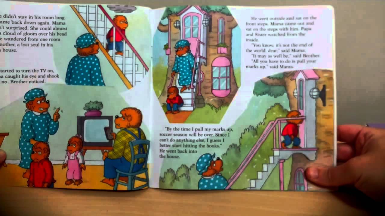 The Berenstain Bears Report Card Trouble Youtube