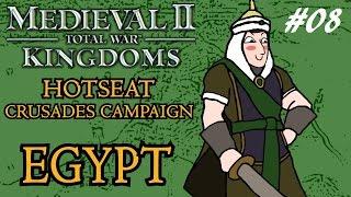 Medieval 2: Total War - Kingdoms Crusades Hotseat Campaign - Egypt - Part 8!