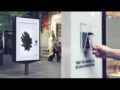 Contactless Payment Donation Campaign for Melanoma Institute | JCDecaux Australia