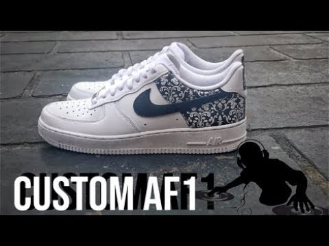 0fd58a096901ec Custom  Floral Glitch  Nike Air Force 1 s For DJ Tonik - YouTube