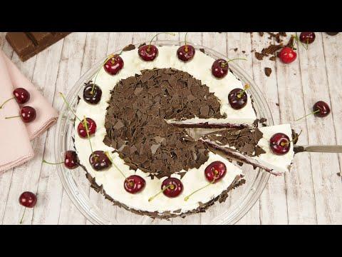 Schwarzwälder Kirsch Torte ohne Backen / No Bake Cake/ Schoko Kirsch Kühlschranktorte