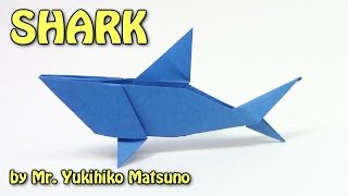 Cool Origami SHARK by Mr. Yukihiko Matsuno - Yakomoga Origami tutorial