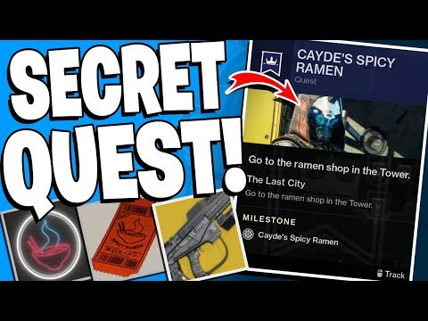 Destiny 2 - Cayde's Spicy Ramen Quest - No Time To Explain Exotic? - What We Know So Far !!