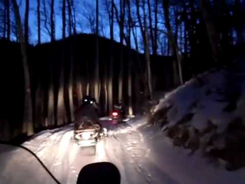 Snowmobiling at the Red River Ski Area