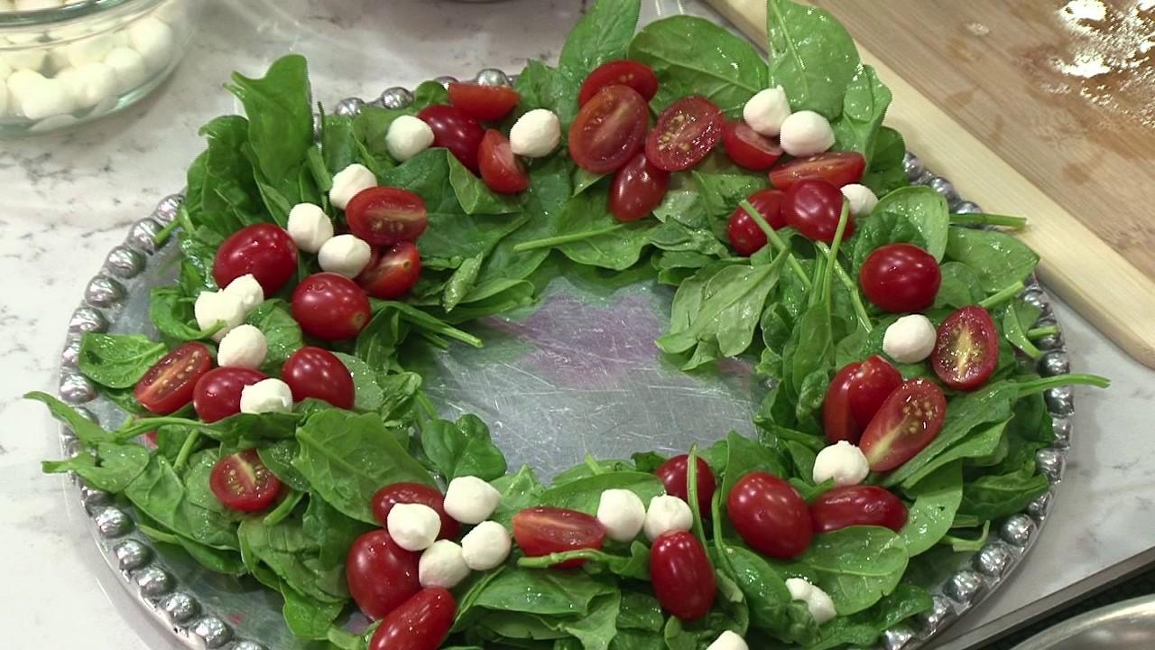 Caprese Holiday Wreath Salad Youtube