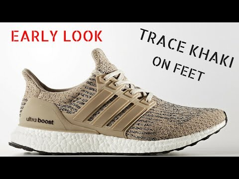 02ad7a902911d EARLY LOOK Adidas Ultra Boost 3.0 Trace Khaki - ON FEET - YouTube