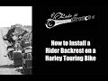 How to Install a Rider Backrest on a Harley Touring Bike