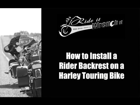 Astra Depot Set Fit 09-up Harley Touring FLHT FLHX FLHR Adjustable Driver Rider Backrest Back Rest