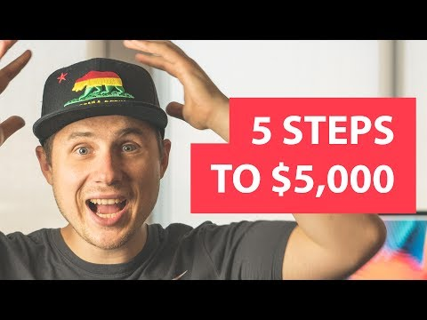 Earn $5000/month as a remote graphic designer in 5 steps