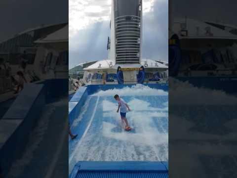 Liam Clarke Surfing - Royal Caribbean Navigator of the Seas Summer 2016