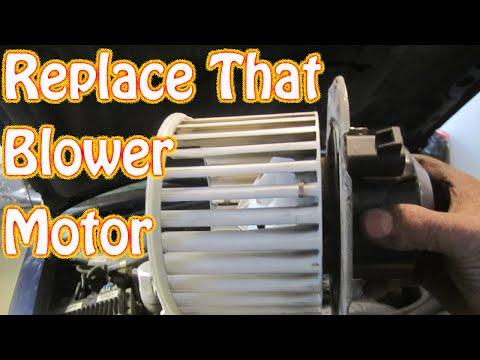 DIY How To Replace A Noisy Heater \ AC Blower Motor On A Chevy Blazer S10 GMC Jimmy - Blazer No Heat