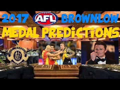 2017 AFL Brownlow Medal Predictions