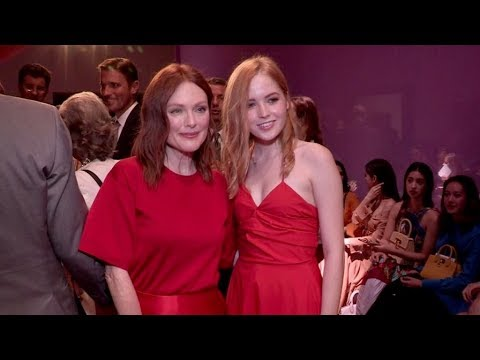 Julianne Moore, Ellie Bamber and more front row for the Salvatore Ferragamo Fashion  in Milan