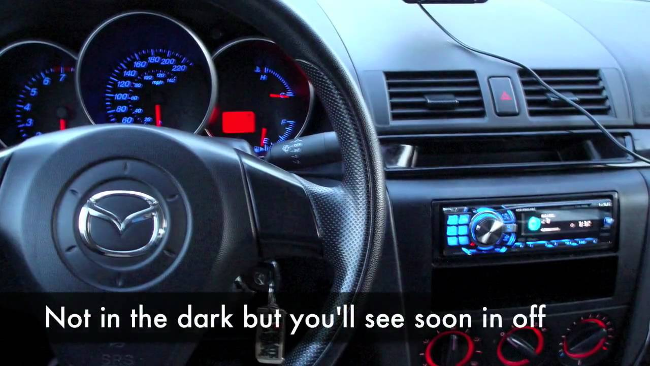 Mazda 3 Red To Blue Gauge After Before Youtube