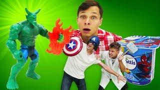 Шоу Той Мастер - Супергерои vs Зеленый Гоблин - Игры с Fruttis