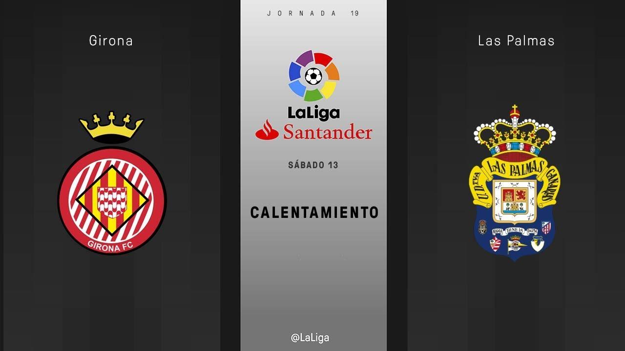 Calentamiento Girona vs Las Palmas