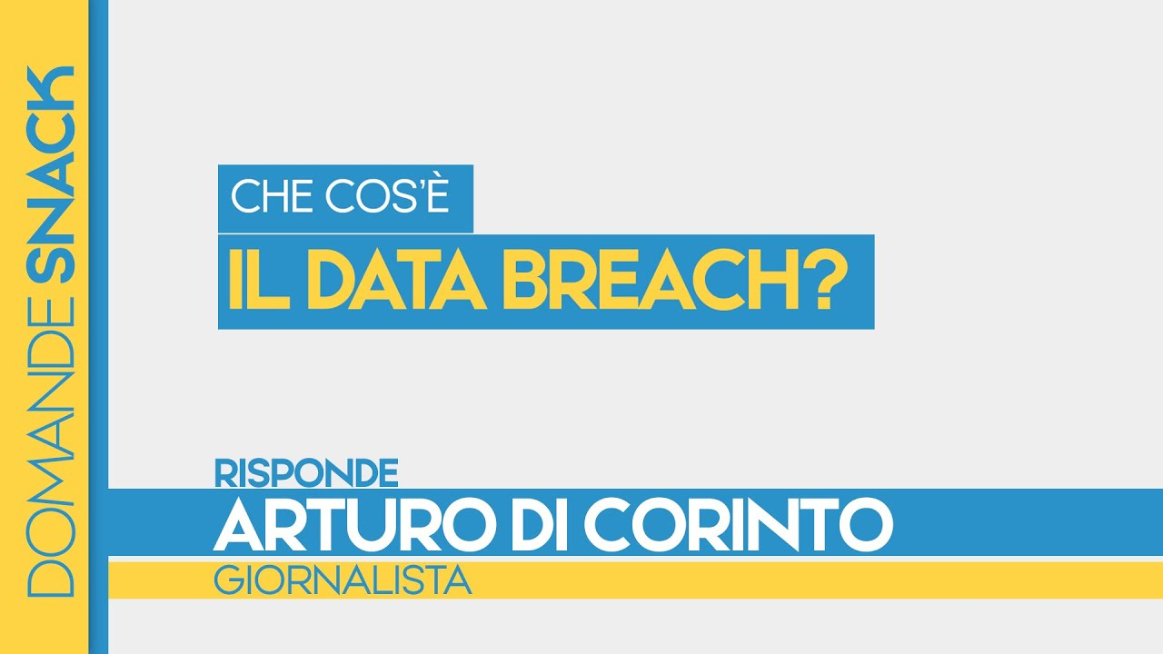 Che cos'è il Data breach?