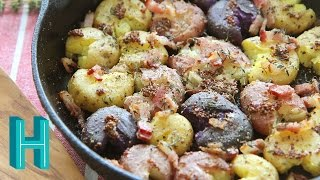 Smashed Roasted Potatoes |  Hilah Cooking