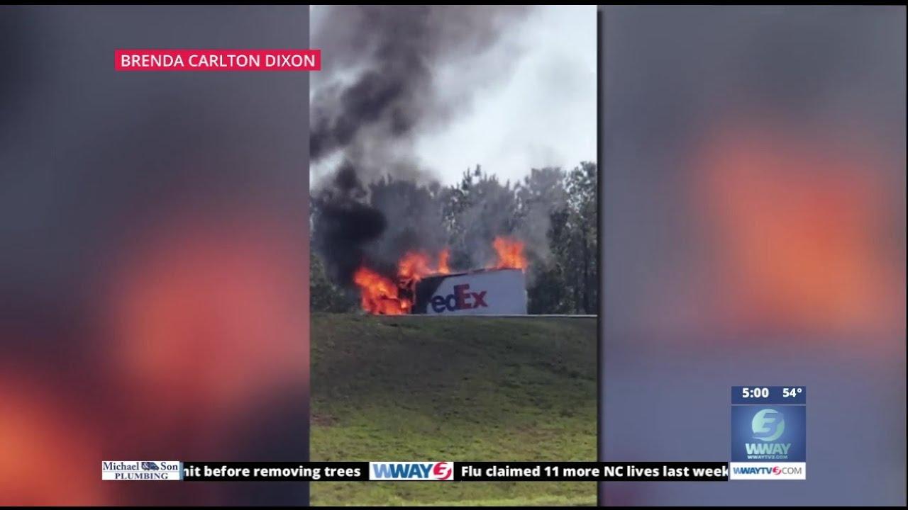 FedEx driver killed in fiery crash on I-40