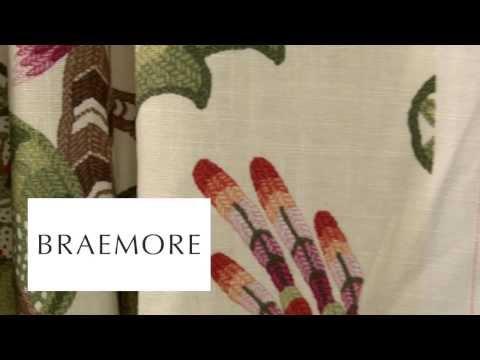Video of Braemore Henrietta Evergreen Fabric #104147 F