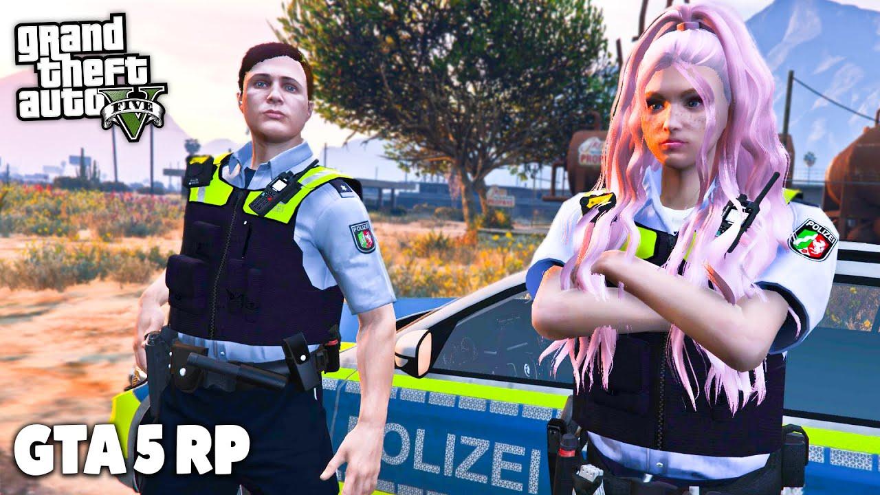 PRAKTIKANTIN bei der POLIZEI in GTA RP! - GTA 5 Roleplay Online - Deutsch