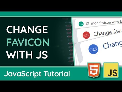 Dynamically Change Your Favicon With JavaScript - Web Design Tutorial thumbnail