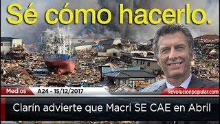 Clarín advierte: MACRI SE CAE EN ABRIL