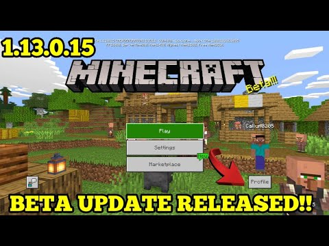Minecraft PE 1.13 | MCPE 1.13.0.15 BETA UPDATE RELEASED!! + GAMEPLAY!! (Pocket Edition)