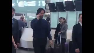 Киану Ривз в аэропорту Пулково