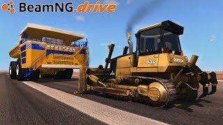 BeamNG.drive - DUMP TRUCK vs BULLDOZER