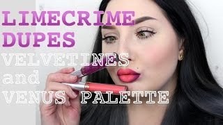 Lime Crime Dupes For Velvetines And Venus Palette / Jordan Hanz