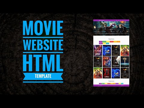 How To Make A Movie Website Using HTML CSS And MaterializeCss Step By Step