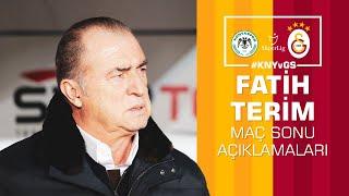 🎙 Teknik direktörümüz Fatih Terim'in maç sonu açıklamaları #KNYvGS - Galatasaray