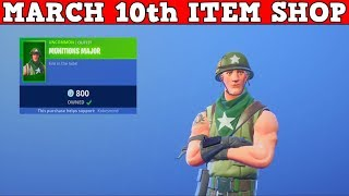 Fortnite Item Shop (March 10th) | TFUE GOT A SKIN! *NEW* MUNITIONS MAJOR!