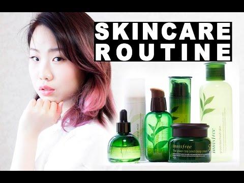 KOREAN SKINCARE ROUTINE + REVIEW [INNISFREE GREEN TEA SERIES]