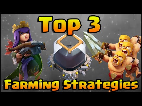 Clash of Clans - Top 3 Farming Attack Strategy with Heroes