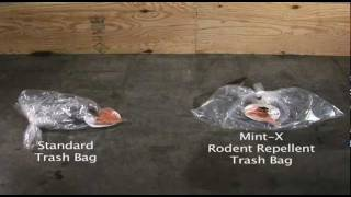 Mint-X Rodent Repellent Trash Bags Demonstration